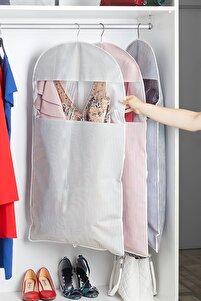 Gri Çizgili Elbise Kılıfı 60 X 100 Cm