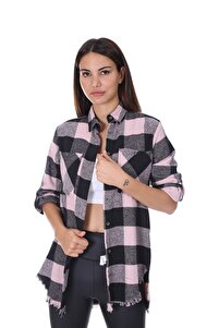 Kadın Ekoseli Oduncu Gömlek Pudra 21w21112101
