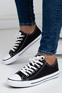 Unisex Siyah Ortopedik Şeritli Sneakers Cnvrs3579746