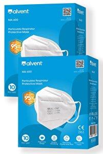 Ventilsiz N95 Çift Meltblown Katmanlı Maske Iso Ve Ce Sertifikalı 20 Adet