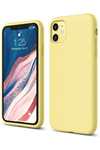 """Iphone 11 6.1"""" Uyumlu Içi Kadife Lansman Silikon Kılıf"""