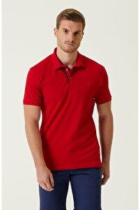Slim Fit Kırmızı Polo Yaka T-shirt