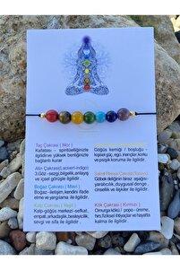 Yedi Çakra 7 Farklı Doğal Taş Bileklik Reiki Şifa Meditasyon + Özel Hediye Kartı
