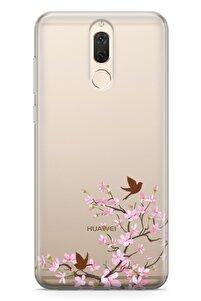 Huawei Mate 10 Lite Kılıf Peony Kuşlar Arka Kapak Koruma Desenli Full Koruyucu