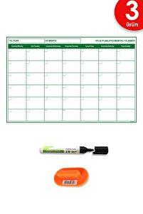Planlayıcı Akıllı Kağıt Planner Sticker 2021 Kağıt Tahta Yazı Tahtası Takvim Aylık Set
