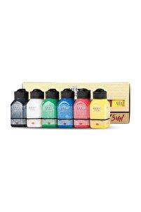 Canlı Renkler 6x75ml Akrilik Boya Setii