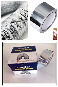 Esnek Bükülür Aspiratör Havalandırma Borusu Çap=120mm Boy= 200cm + (Alü Folyo Band=10metre) Set