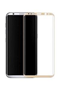 Samsung Galaxy S8 Kavisli 5d Kırılmaz Cam Gold