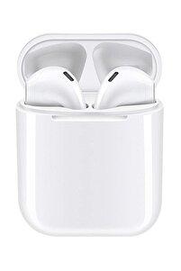 Airpods I12 Beyaz Iphone Android Uyumlu Universal Bluetooth Kulaklık Hd Ses Kalitesi