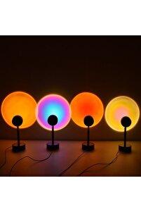 Gün Batımı Projektör Lambası Dekoratif Işık Masa Lambası Romantik Fotoğraf Çekimi Usb Led Işık