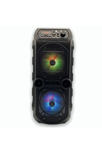Outdoor Parti Hoparlörü Bluetooth Hoparlör 4 Inç × 2 Kablosuz Speaker Ses Bombası Radyo-usb-tf Giriş
