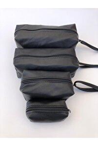 Roesıa Rose 4 Parça Matruşka Makyaj Çanta Seti Siyah