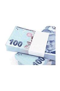 100 Adet  Sahte Geçersiz Düğün Parası -  100 Tl