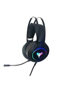 Led Işıklı Mikrofonlu Gaming Oyuncu Kulaklığı T4-9009