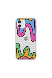 Iphone11 Renkli Tasarım Telefon Kılıfı