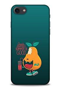 Frutix Armut 02 Apple Iphone 8 Kılıf Desenli Silikon