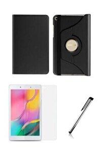 "Samsung Galaxy Tab A Sm T290 / T297 8"" Siyah 360 Derece Standlı Tablet Kılıfı Set"