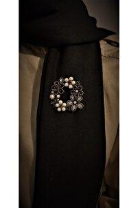 Kadın Bronz Otantık Desenli Broş
