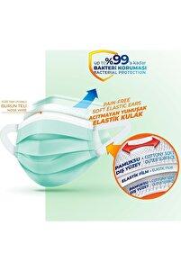 3 Katlı Filtreli Burun Telli Cerrahi Maske 250 Li Set (yumuşak Elastik Kulaklı)