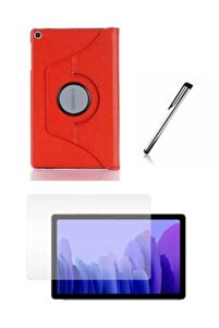 Samsung Galaxy Tab A7 Sm T500 Tablet Kılıfı Siyah Dönerli Seti 10,4 Inç