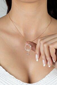 Özel Tasarım Aşk Kelebekleri Gümüş Kolye