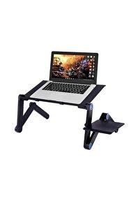 Yükseklik Ayarlı Laptop Notebook Ders Masası Fanlı Mousepadli