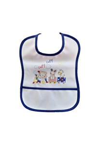 Unisex Bebek Renkli Baskılı Boyundan Bağlamalı Polyester Mama Önlüğü