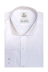 Erkek Beyaz Slım Fıt Dar Kalıp Std Gömlek