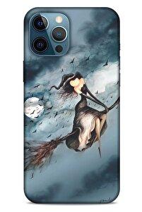Y.liva-2021 Özel Seri Cadılı Apple Iphone 12 Pro Max Kılıf Silikon Kapak