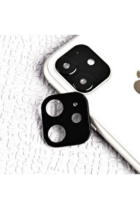 Apple Iphone 11 Cp-02 Metal Kamera Koruyucu Siyah