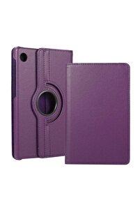 Matepad T10 Kılıf 360°dönebilen Deri Leather New Style Cover Case(mor)