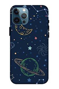 Uzay Hayat?ı Desenli Baskılı Apple Iphone 12 Pro Max Kılıf Silikon Kilif