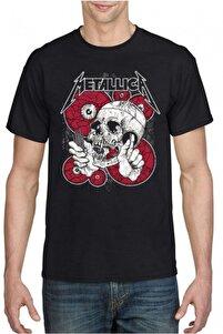 Unisex Siyah Metallica T-shirt