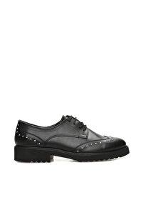 Troklu Siyah Ayakkabı