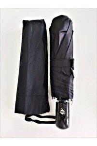 Unisex Siyah Tam Otomatik Rüzgarda Kırılmayan Şemsiye To-4425