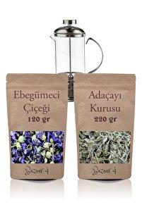 Ebegümeci Çiçeği 120 Gr + Adaçayı Kurusu 220 Gr + Frenchpress 330ml