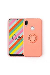 Xiaomi Redmi Note 7 Yüzüklü Standlı Flamingo Silikon Telefon Kılıfı
