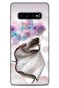 Y.liva-2020 (mutlu Peri) Samsung Galaxy S10 Plus Kılıf Silikon Kapak Desenli
