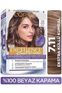 L'oréal Paris Excellence Cool Creme Saç Boyası – 7.11 Ekstra Küllü Kumral