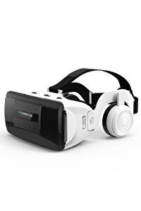 Vr Shinecon 3d Imax Vr Box Bluetooth Kulaklık Ayarlanabilir Görüş Mesafesi Sanal Gerçeklik Gözlüğü