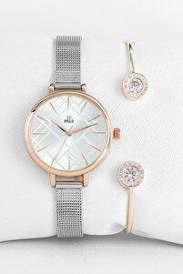 P1205h-bh-kmb-lux-04 Kadın Saat Bileklik Seti