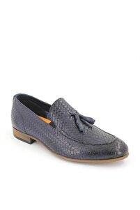 Erkek Lacivert Deri Ayakkabı