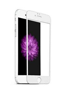 Iphone 7 8 Tam Kaplayan 5d 9d Kırılmaz Cam Ekran Koruyucu Beyaz