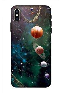 Gezegenler Desenli Baskılı Iphone Xs Max Uyumlu Kılıf