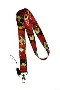 Minnie Mouse Boyun Askı Ipi Yaka Kartlığı