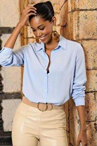 Kadın Mavi Gömlek