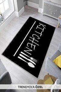 Dekoratif Özel Tasarım Modern Yıkanabilir Ince Kaymaz Taban Mutfak Halısı