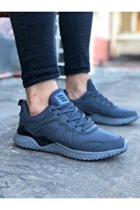 Füme-siyah Unisex Sneaker Spor Ayakkabı Takax0132