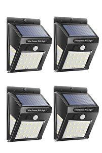 4 Adet Güneş Enerjili Sensörlü 30 Led Dış Mekan Aydınlatma Ever Bright