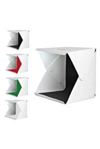 Mini Stüdyo Taşınabilir Işıklı Fotoğraf Ürün Çekim Çadırı 40x40cm